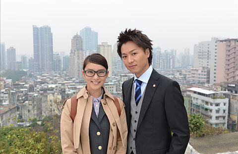 武井咲とツーショットのドラマでのEXILEのTAKAHIROの画像