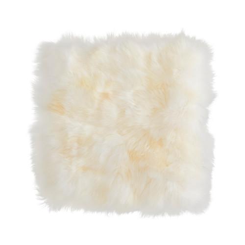 SKOLD クッションカバー, 羊皮, ホワイト