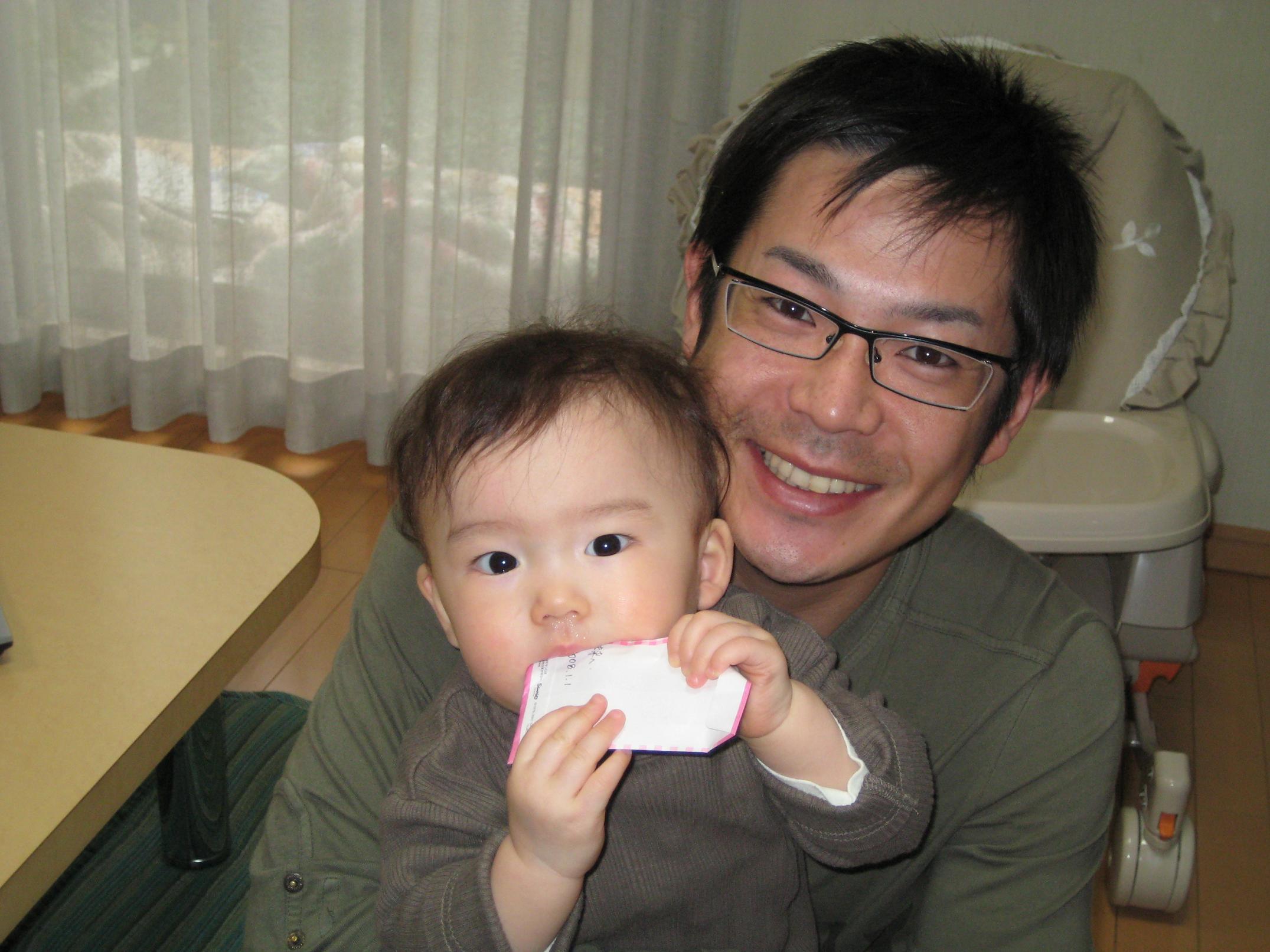 息子さんと笑顔の清水健