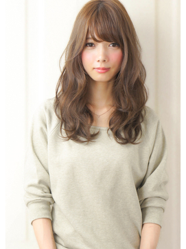 【セミロングパーマ】黒髪の髪型!前髪なし・前髪ありまとめ!の