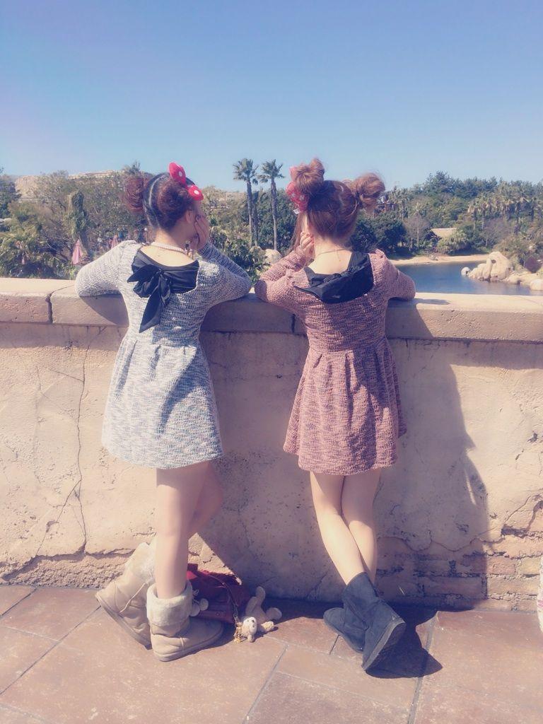 【双子コーデ秋冬】WEGOでディズニーへ!【髪型・パーカー】のサムネイル画像