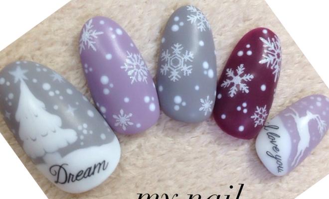 冬ネイル2016のデザインまとめ!セルフで簡単に雪ネイルやスカルプも!のサムネイル画像