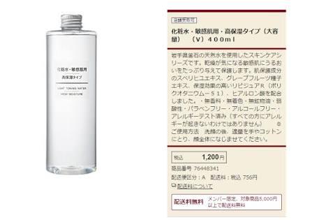 無印良品化粧水おすすめ特集(口コミ有)高保湿でしっとり美白成分も?ニキビが治る?のサムネイル画像