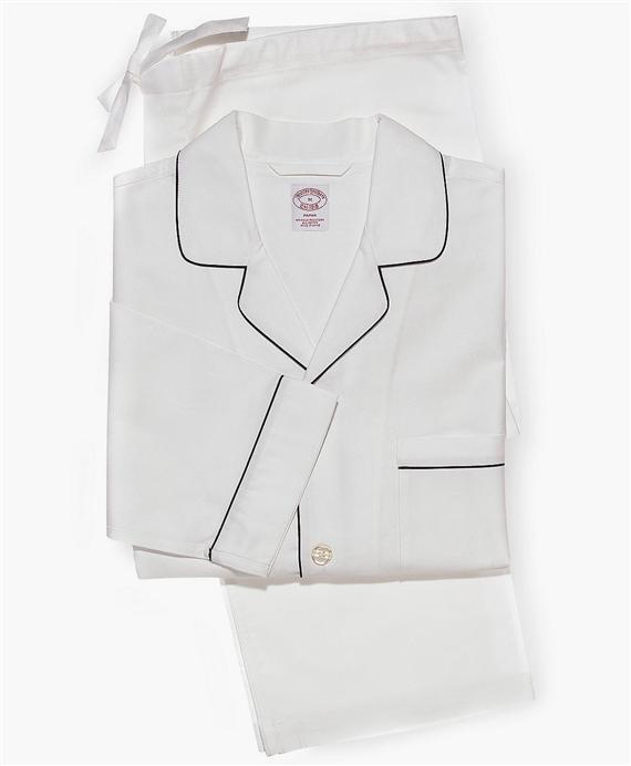 オックスフォード パジャマ (ホワイト)|Brooks Brothers Japan(ブルックス ブラザーズ ジャパン)