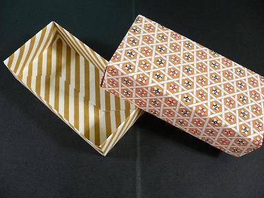 クリスマス 折り紙:折り紙 箱 長方形-pinky-media.jp