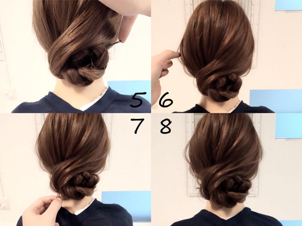 着物 髪型 ロング 簡単