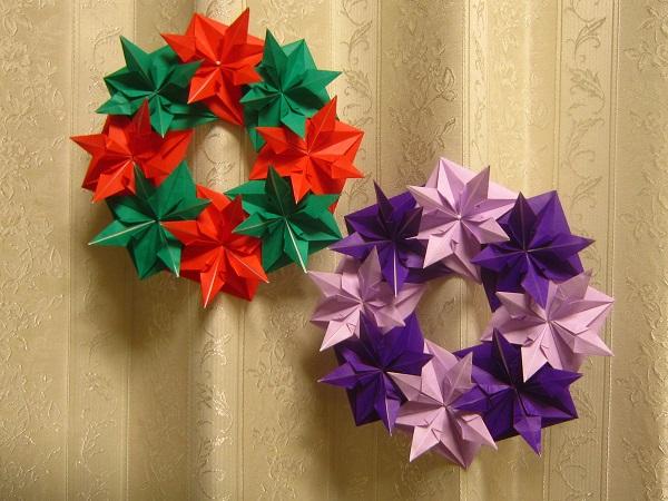 ハート 折り紙:クリスマスリース 折り紙 折り方-pinky-media.jp