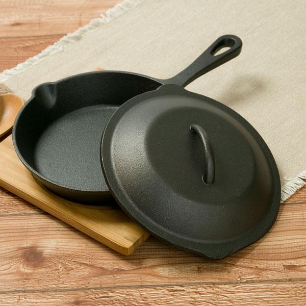 スキレット鍋20cm+蓋セット