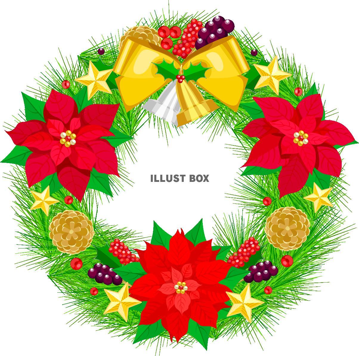 クリスマスリースのイラスト画像・素材まとめ!【無料・フリー】のサムネイル画像