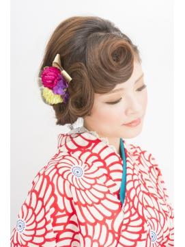 着物の髪型を簡単に自分で作る!【ロング・ミディアム・ボブ・ショート】 | Pinky[ピンキ-]