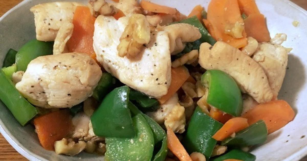 【冬の薬膳】鶏とピーマンのくるみ炒め by H♡Garden [クックパッド] 簡単おいしいみんなのレシピが255万品