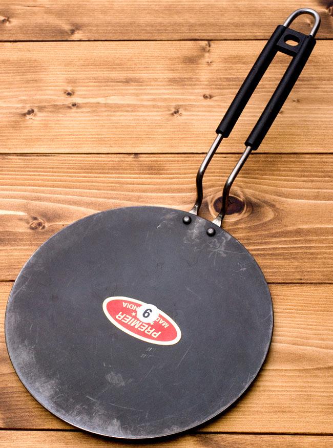 本場仕様で焼きやすい! 鋼鉄製のチャパティパン