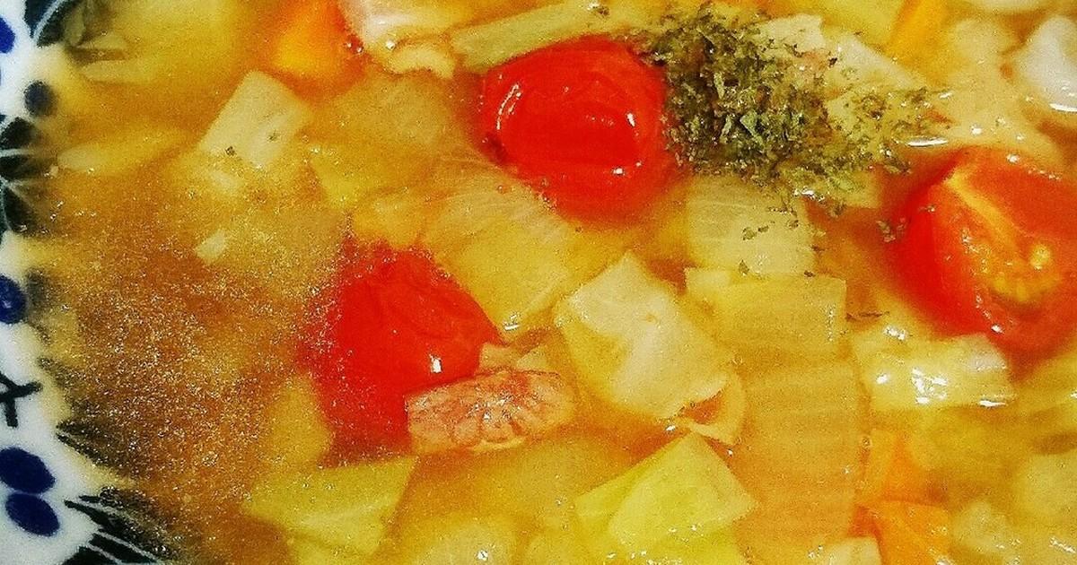 トマト缶なし簡単ミネストローネ by モチっコ [クックパッド] 簡単おいしいみんなのレシピが255万品
