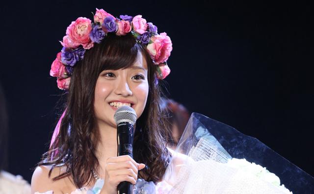 SKE48卒業公演中の柴田阿弥