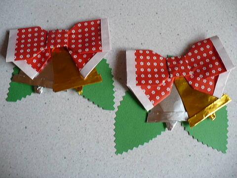 クリスマス 折り紙 折り紙 ベル : pinky-media.jp