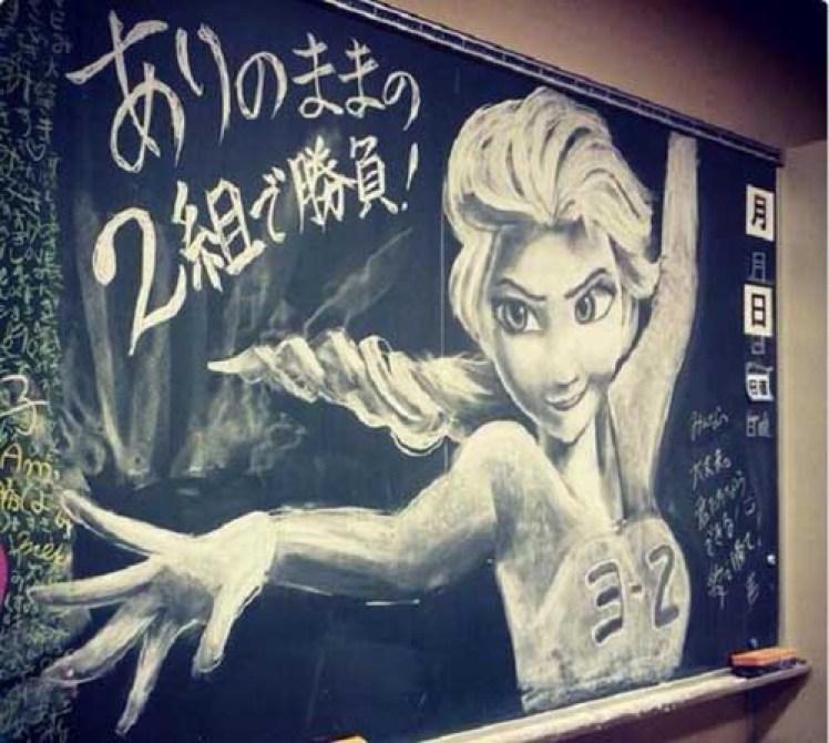 黒板アートの簡単な書き方のコツまとめ!卒業式・文化祭に
