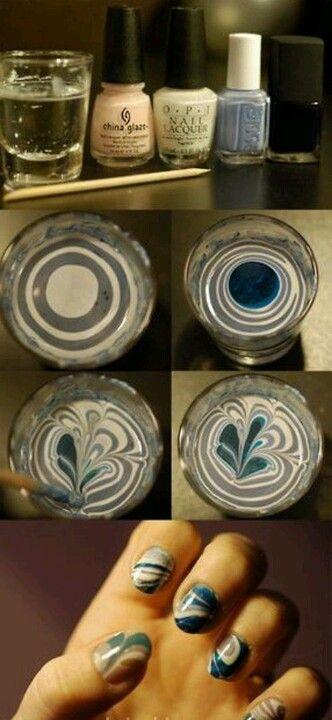 マーブルネイルのやり方を調査!水やラップを使うと簡単にできる?のサムネイル画像